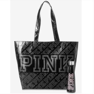 VS PINK Tote + Stainless Steel Bottle
